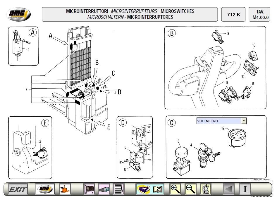 Bienvenidos mecanicosdz: Software OMG Forklift catalogo de