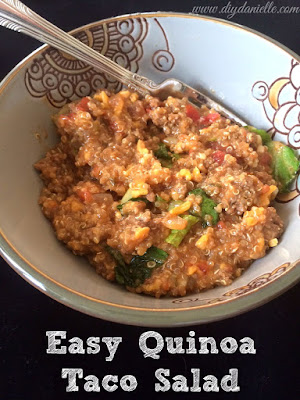 How to make a quick and easy quinoa taco salad.