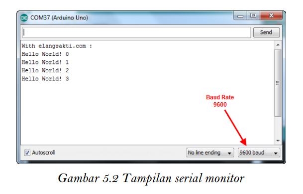 Tampilan serial monitor