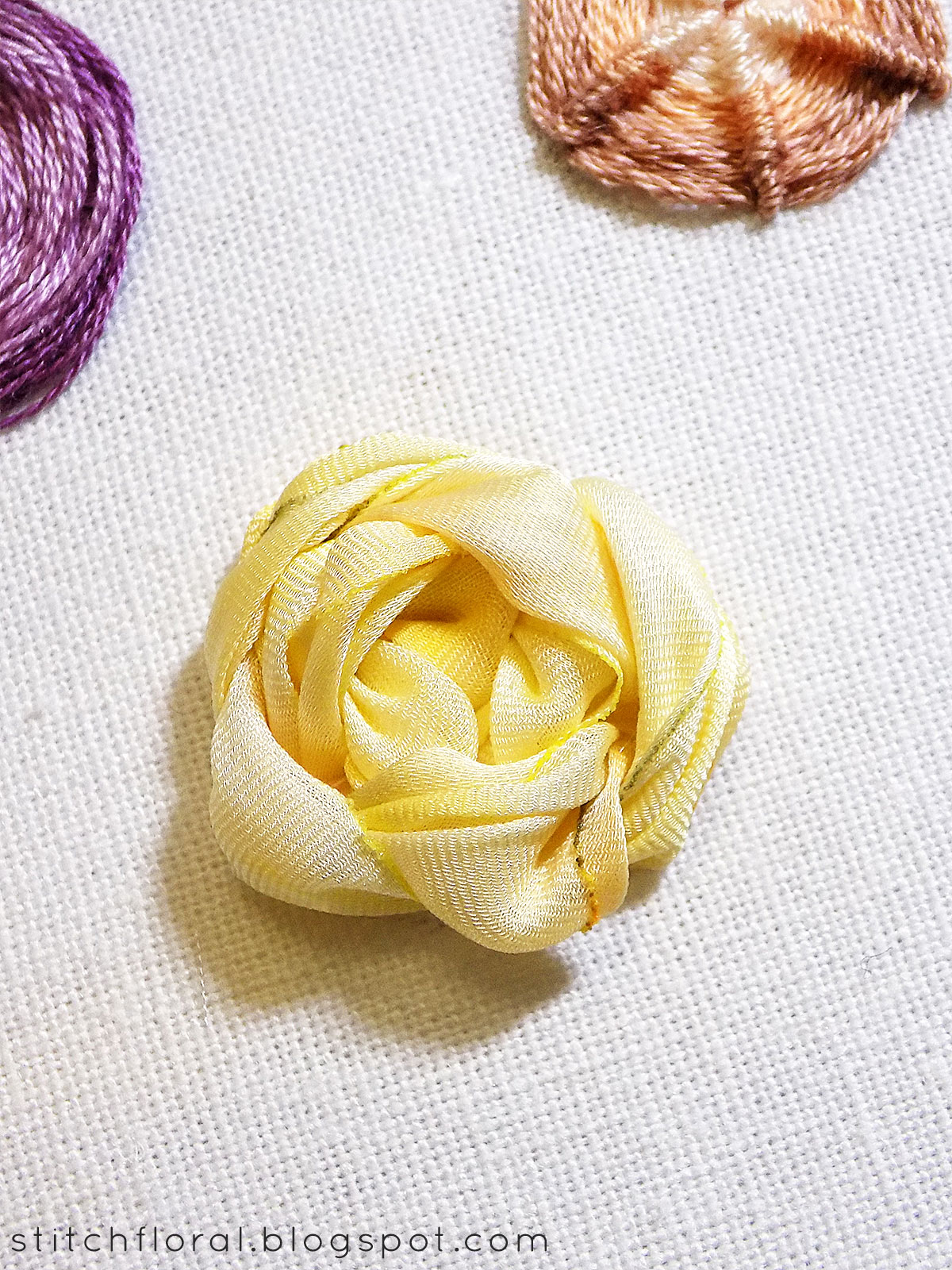 Spider web stitch tutorial - Stitch Floral