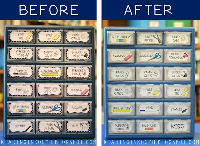 Check out these teacher toolbox makeover!  This post has two editable teacher toolbox labels with clip art and a FREEBIE.  Your school supplies will be so much more organized with this teacher toolbox!