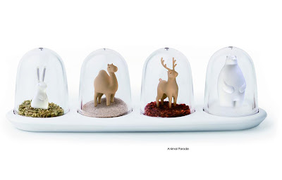 animal parade seasoning shakers by Qualy Design