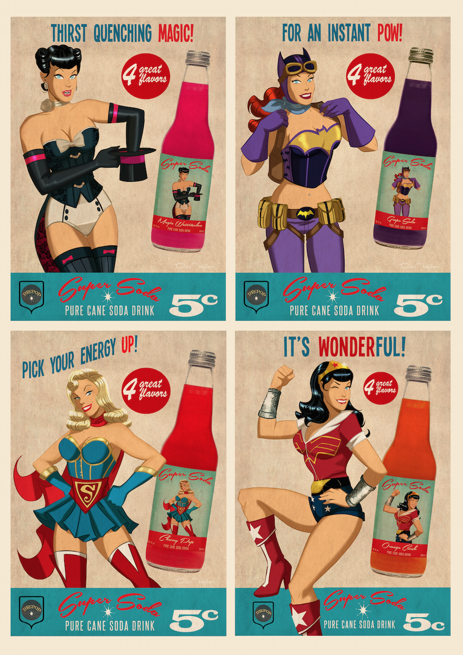 Dc Bombshell Super Soda S By Des Taylor Despop Art Amp Comics