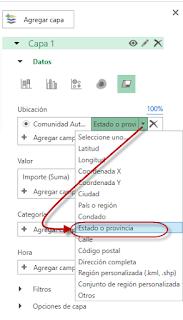 Mapas por regiones en Excel