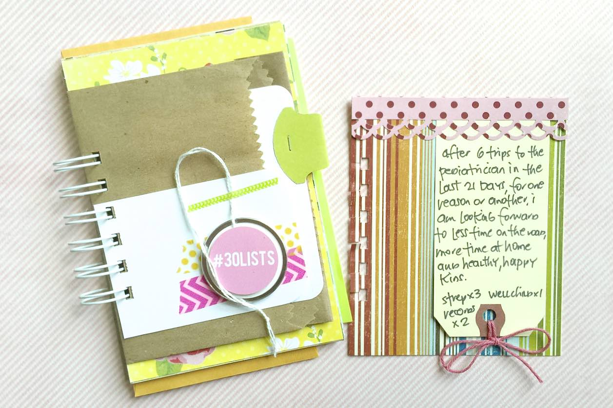 #30lists #30 Days of Lists #lists #tutorial #journal #spiral notebook