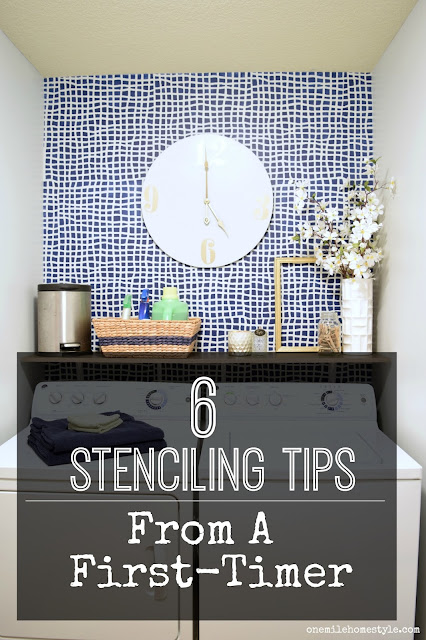 Stenciling in your future? Get these 6 tips for wall stenciling before you start your project!