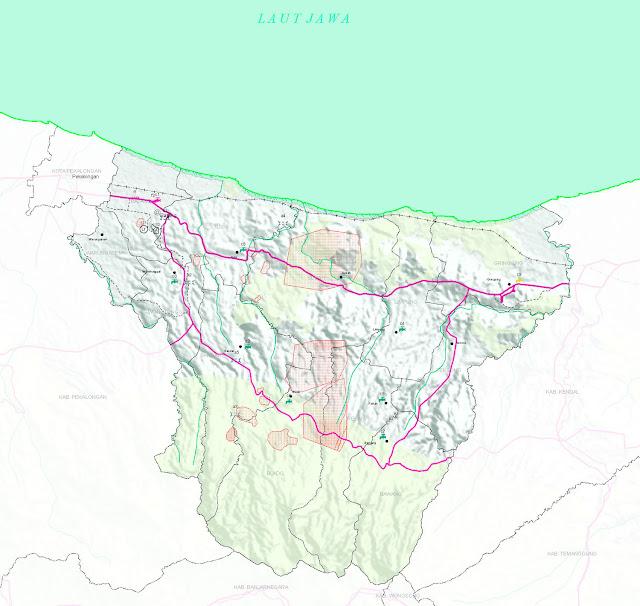 Peta Kabupaten Batang