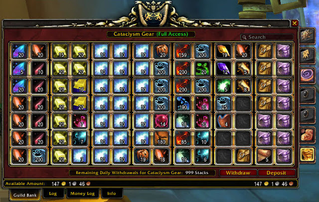 how to withdraw money from a guild bank in wow