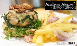 HAMBURGUESA HITCHCOOK DE PAVO Y ESPINACAS