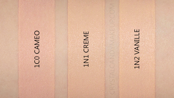 Laura Mercier Flawless Lumiere Radiance Perfecting Foundation Swatches 1C0 1N1 1N2 MAC NW20 NC15