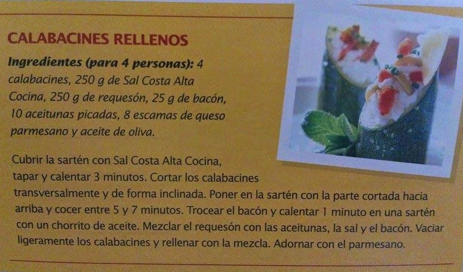 Receta Calabacines rellenos