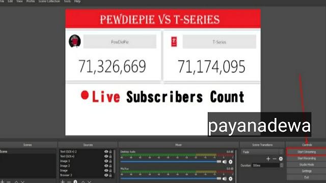 Untuk Menampilkan Subscriber Count di OBS untuk Live Youtube, Begini Caranya