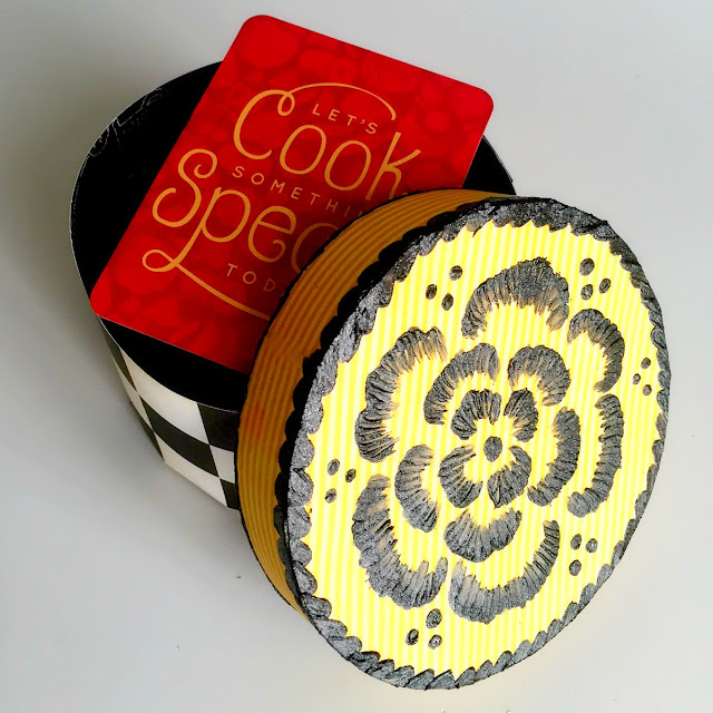 Cookies Box By Ombretta Fusco Using BoBunny Kiss The Cook and Glitter Paste
