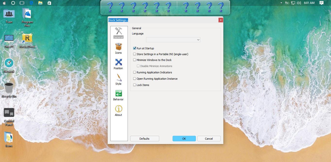 Hướng dẫn ghim ứng dụng Windows 10 vào RocketDock - Ảnh 4
