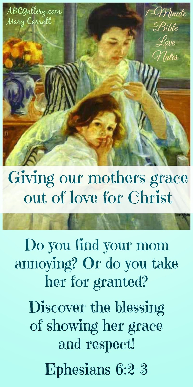 Having grace for our mothers, forgiving our mothers, honoring our mothers