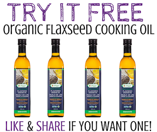 Try a Bottle of  Organic Flaxseed Cooking Oil