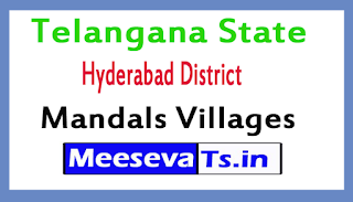 Hyderabad District Mandals Villages In Telangana State