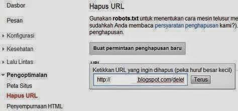 Cara Memperbaiki URL Crawl Error di WEBMASTER TOOLS