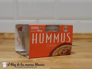 Hummus de garbanzo (classic) HACENDADO de Mercadona.