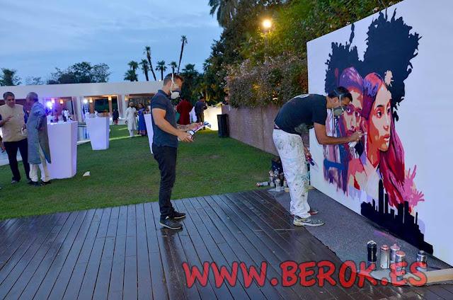 Exhibición de graffiti en vivo en el Hotel Juan Carlos I