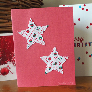 Star Applique Christmas Card