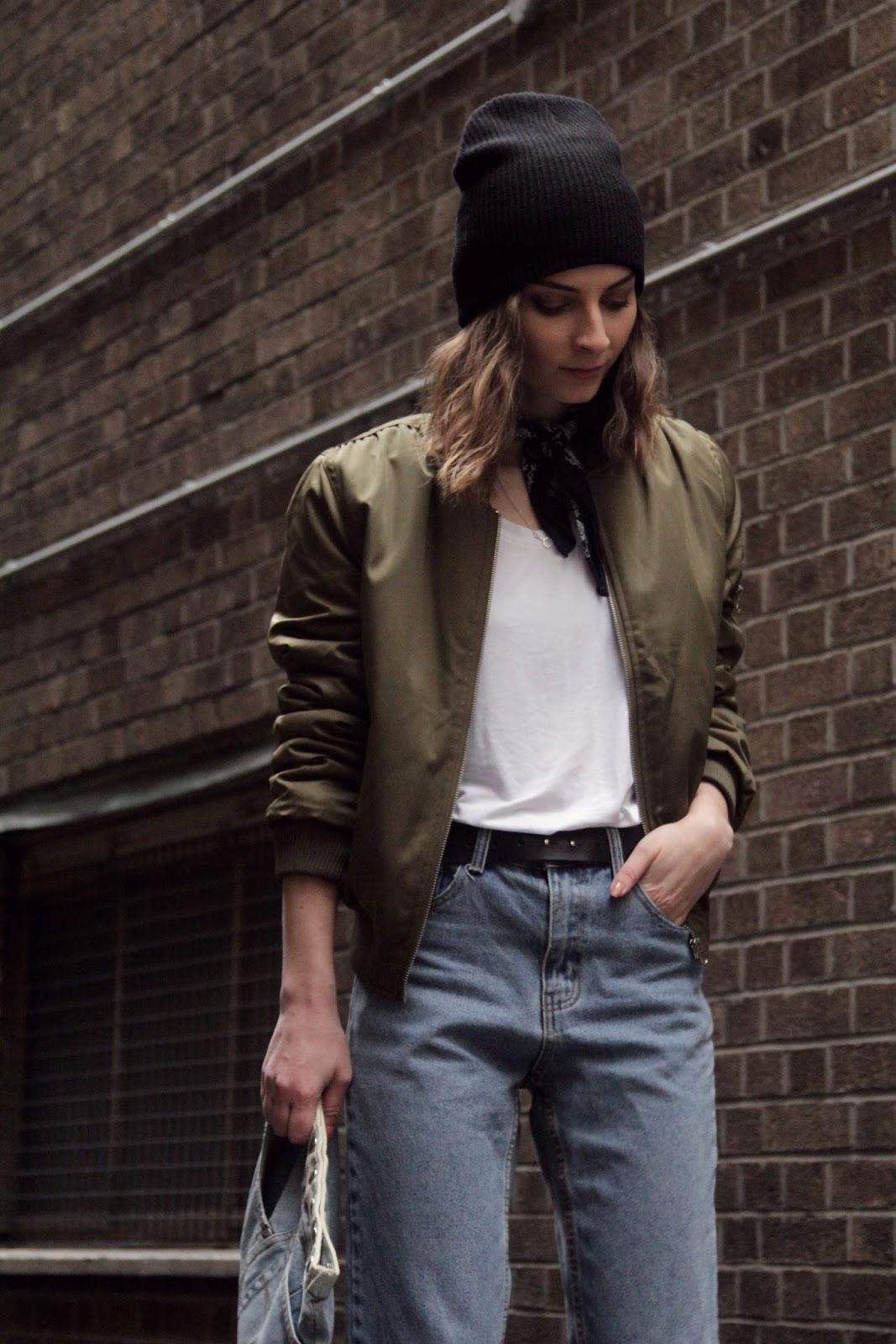 Black bomber jacket london