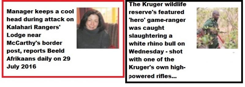#FarmAttack: Manager Marie Steyn of the Kalahari Rangers Lodge in Kuruman near McCarthy's Rest border was attacked by five black gunmen