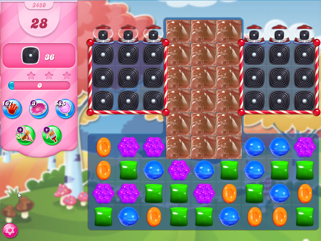 Candy Crush Saga level 3480