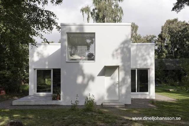 Pequeña casa residencial económica sueca