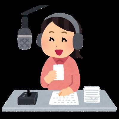 ラジオのパーソナリティ・DJのイラスト(女性)