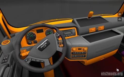 MAN TGX Interior bunt v1.0