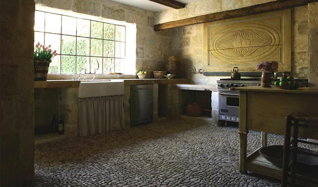 cobblestone kitchen floor linenandlavender net chateau domingue 2293