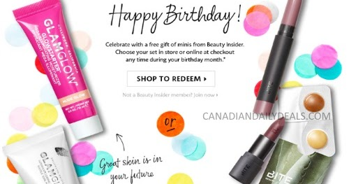 Canadian Daily Deals Sephora Free 2018 Birthday Gift