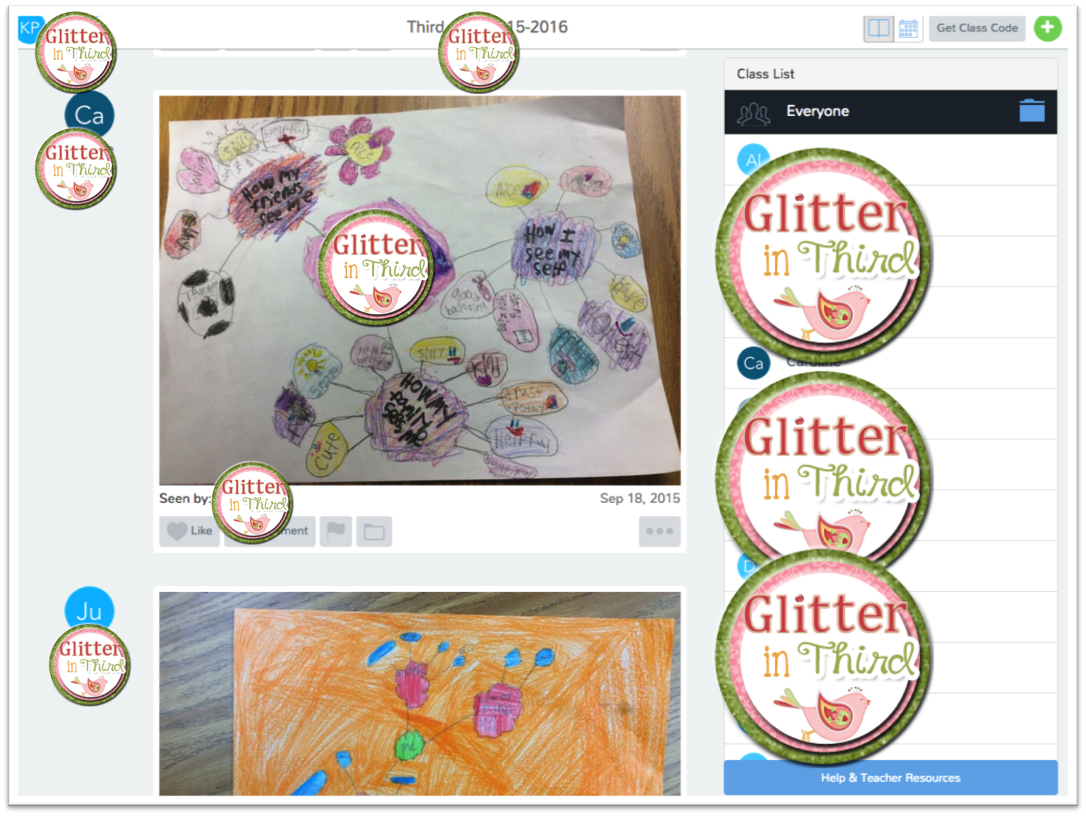 SeeSaw- A digital portfolio app | Glitter in Third
