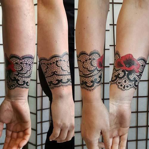 dantel dövmeleri lace tattoos 12
