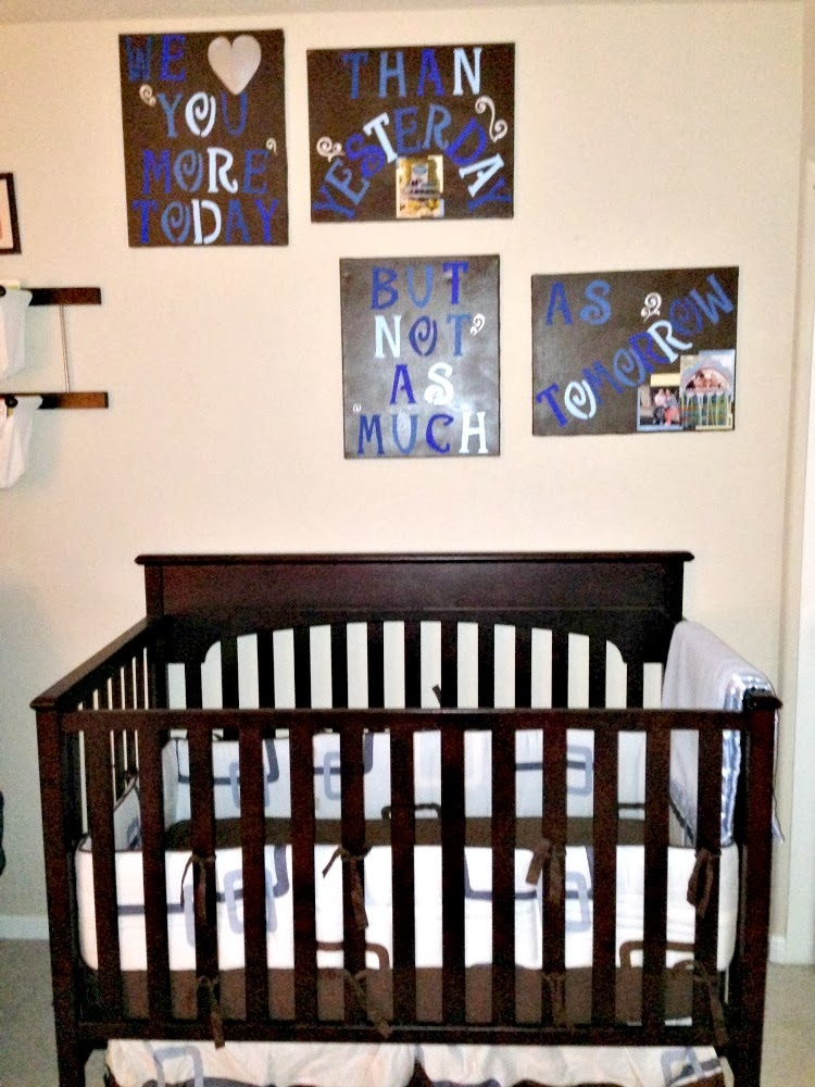 Boy Nursery Brown and Blue