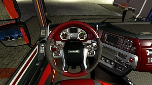 Black and burgundy interior for DAF Euro 6