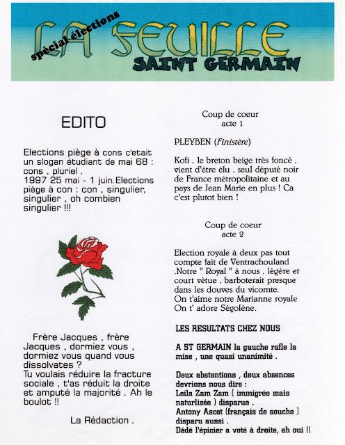« La feuille Saint-Germain » - Numéro 02 - Mai 1997