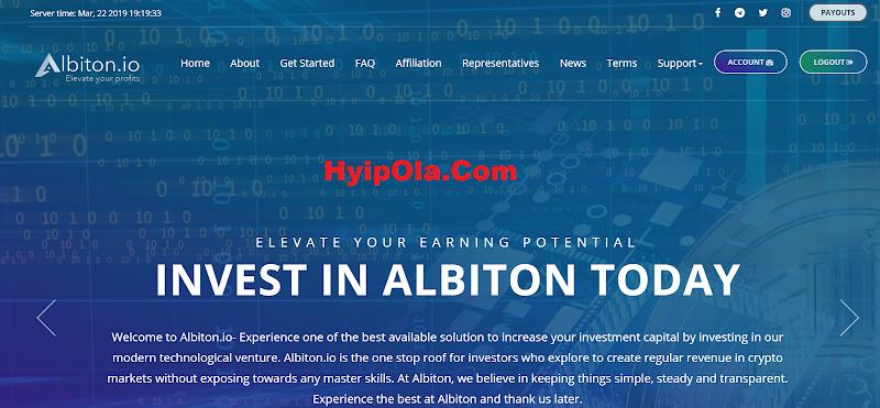 [SCAM] Review Albiton.io - Một siêu phẩm với gói lãi từ 4%, trả lãi hằng giờ, thanh toán tức thì