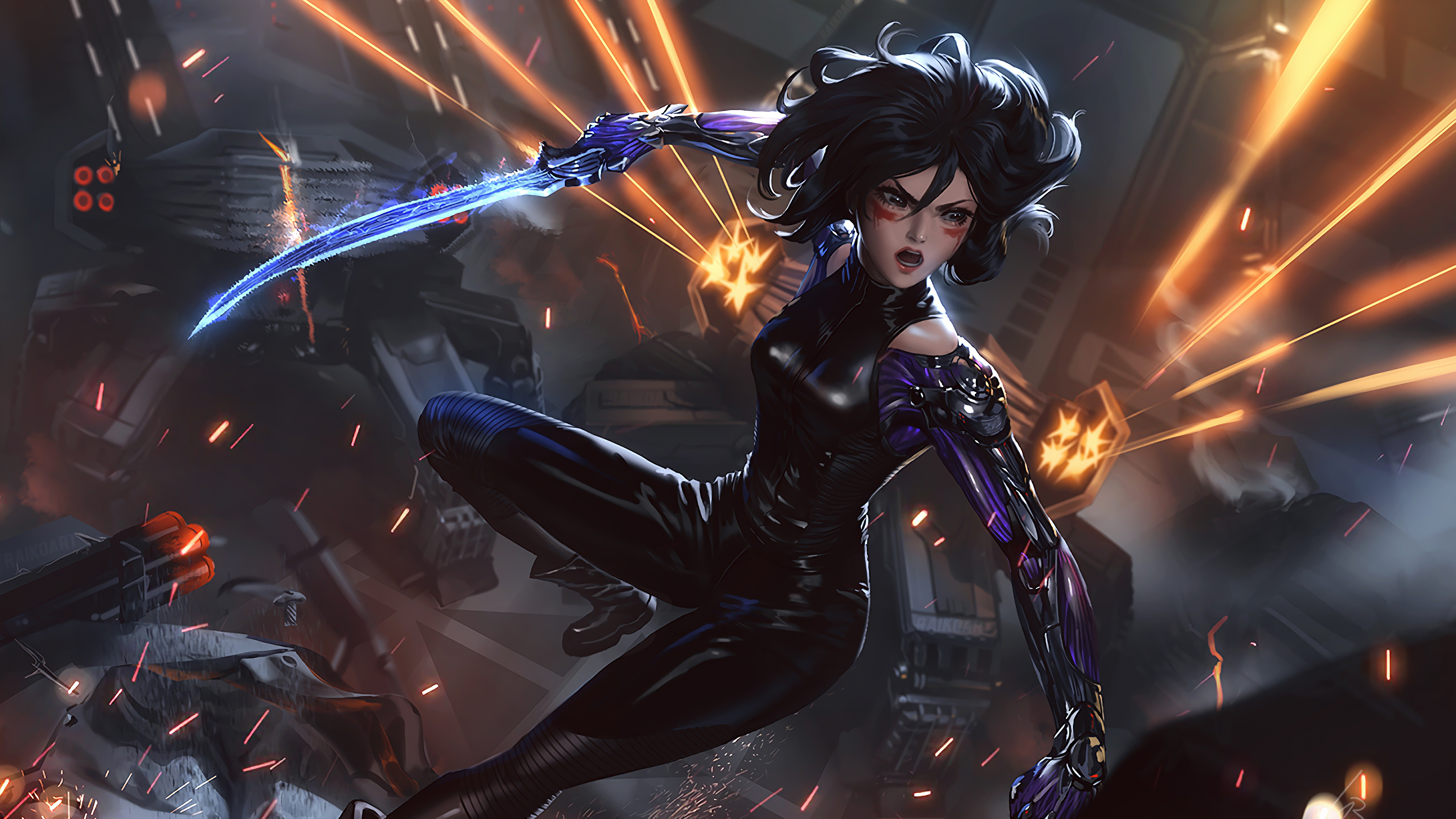 Alita Battle Angel Sword 4k Wallpaper 34