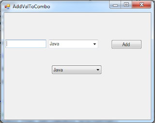 add itemes to combo using csharp