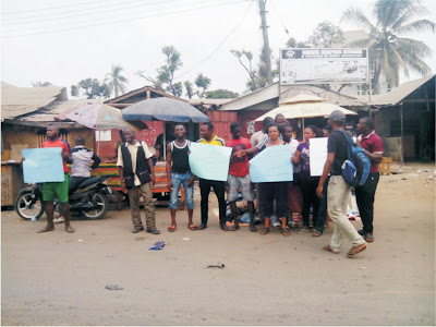 Protest in Eket over demolition of structures