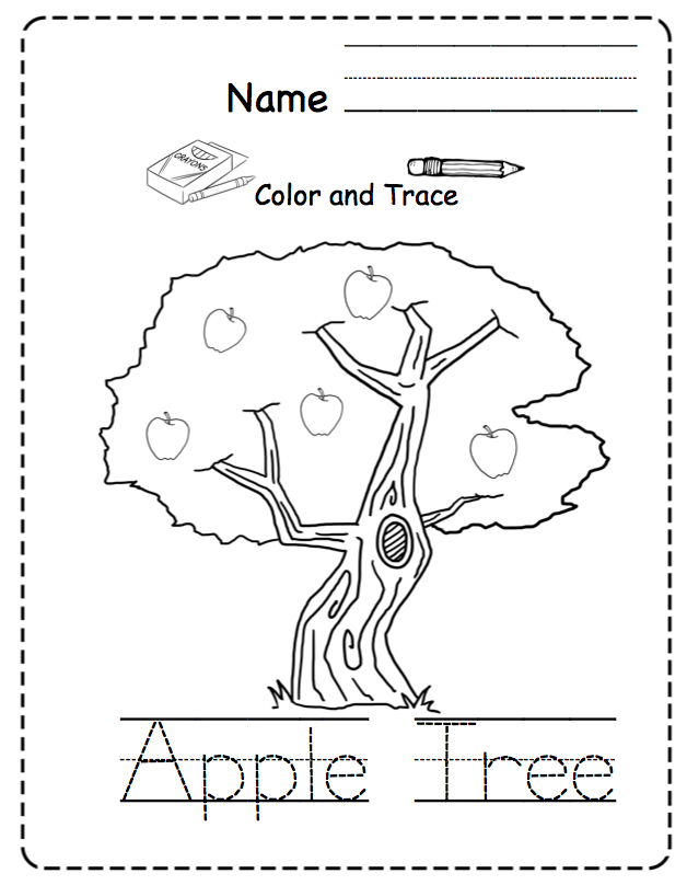 Johnny Appleseed and Apple Printable ~ Preschool Printables