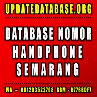 Jual Database Nomor Handphone Semarang