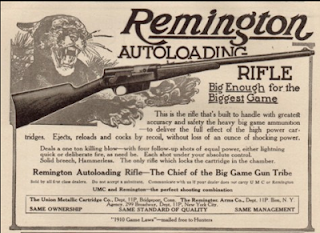 Remington Model 8 Rifle Vintage Ad