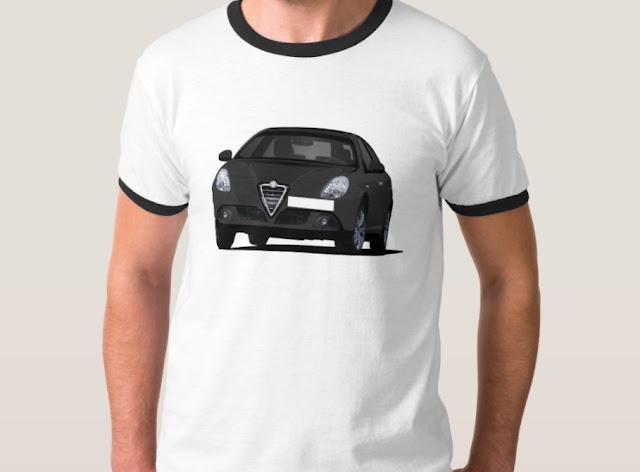 Black Alfa Romeo Giuletta t-shirt in Zazzle