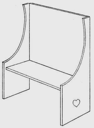 A Settee - handmade doll furniture