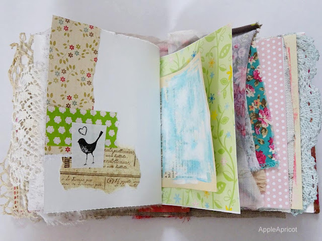 Book of Bloom handmade art journal by AppleApricot