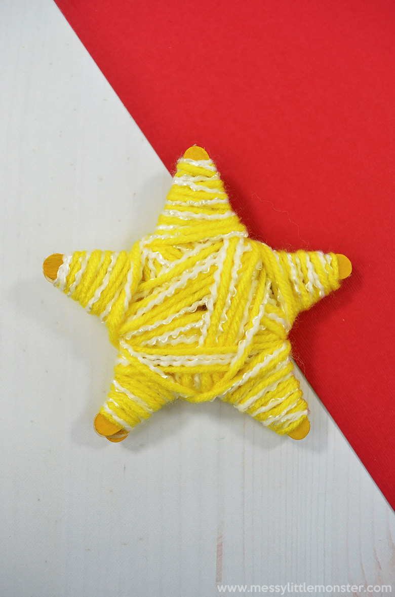 Star craft. Christmas crafts for kids