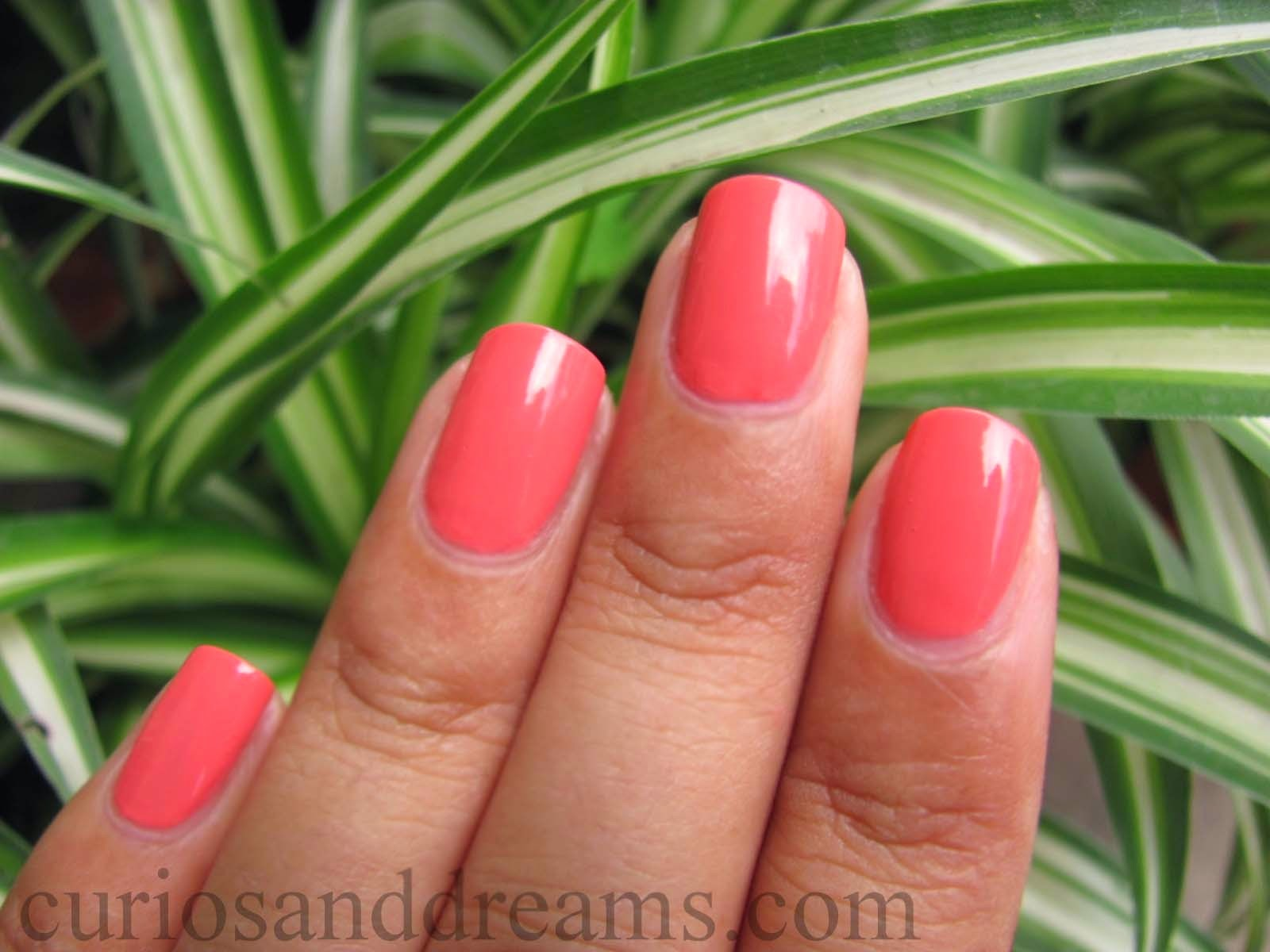 Maybelline Color Show Coral Craze Review, Maybelline Color Show Coral Craze NOTD